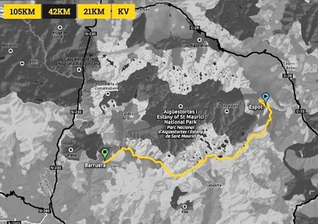 Buff Epic trail 2016: Mapa de carrera Maratón (42k/D+3.200m)
