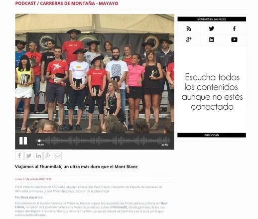 radio trail mayayo ehunmilak en Maratonradio 11jul16 Pirineosfit con Raul Criado y Ehunmilak con Mikel Apaolaza