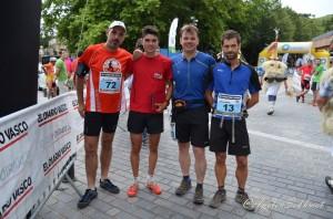 Juan Luis, Antonio, Mayayo y Egoitz en salida Zumaia 2015