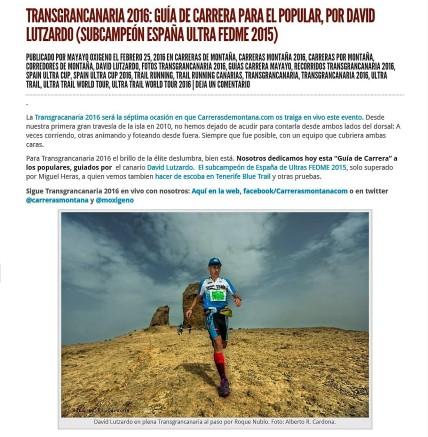 guias carreras montaña mayayo Transgrancanaria 2016