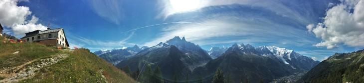 Refugio de Planpraz a 2.000 metros en la traza del Tour Mont Blanc.