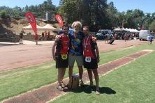 Carlos y Lorenzo Prieto con Gordon Ainsleigh en Western States 2015.