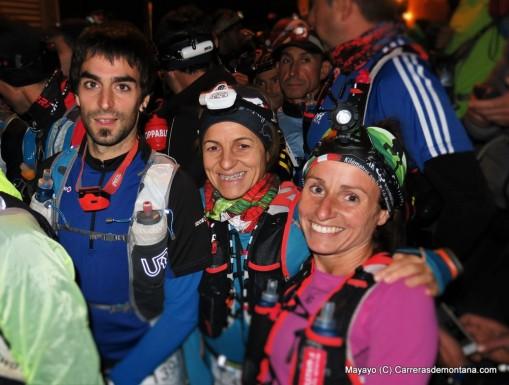 Iokin Garai Elena Calvillo y Leire Martínez. Foto: Mayayo