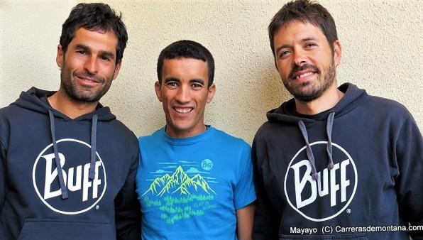 Gerard Morales, Zaid y Pau Bartoló en Transvulcania16. Foto: Mayayo.