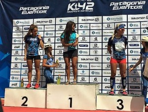 K42 Series Argentina. Podio femenino. Foto: Org.