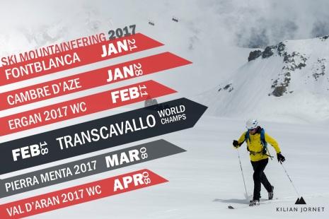Kilian Jornet: Calendario skimo 2017