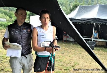 Laura Orgue pasa control Mundial KV Skyrunning 2016