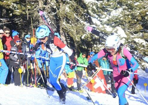 Gran duelo Roux - Galicia por el oro en Sprint. Foto: ISMF.