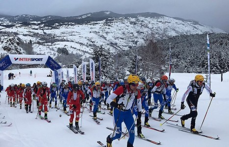 Copa Mundo Skimo 2017. Salida individual Cambre d´Aze Foto: ISMF