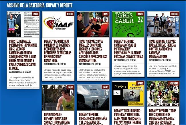 Dopaje y deporte carreras de montaña