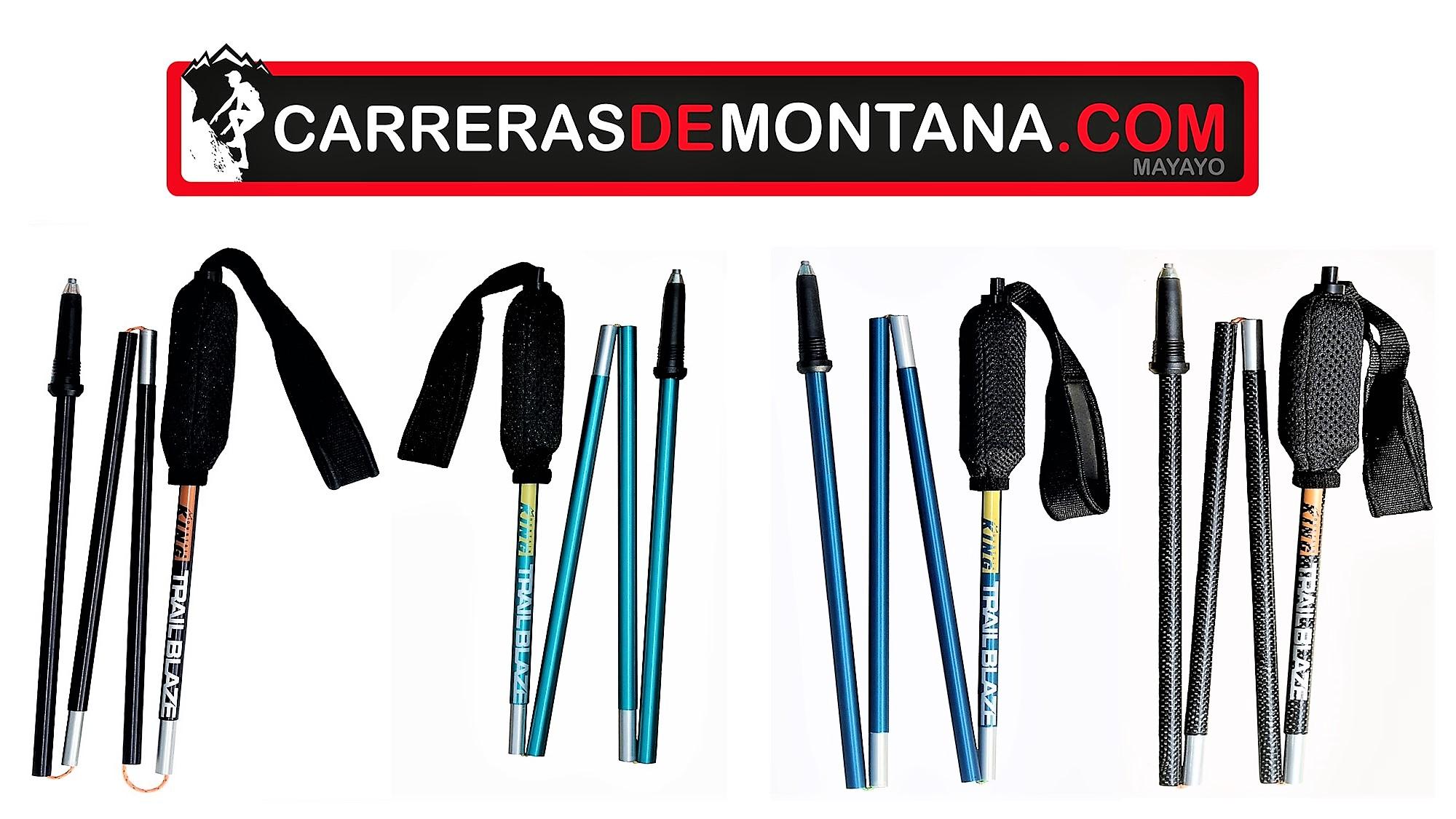 Mountain King trail Blaze poles: Bastones ligeros para trail running y ultra trail Análisis técnico y alternativas por Mayayo.