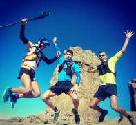 Disfrutando de la ruta en el recorrido de Artenara aTunte con parada en el Roque Nublo