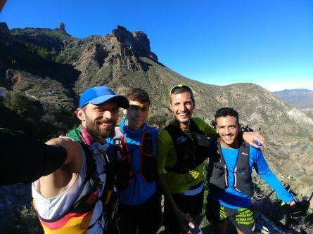 Pablo Villalobos, Efrén Segundo, Alejandro Mayor y Joui Mouj-Abdelkadous desde Tejeda
