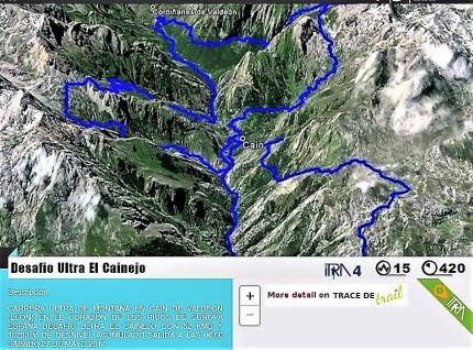 Desafio el Cainejo puntos ITRA 4 puntos montaña 15 2
