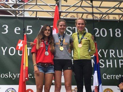Claudia Sabata revalida el título de subcampeona del mundo de KV en el Gran Sasso. @fedme_es