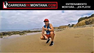 #corremonteshoy 146 entrenamiento carreras de montaña en la playa 3