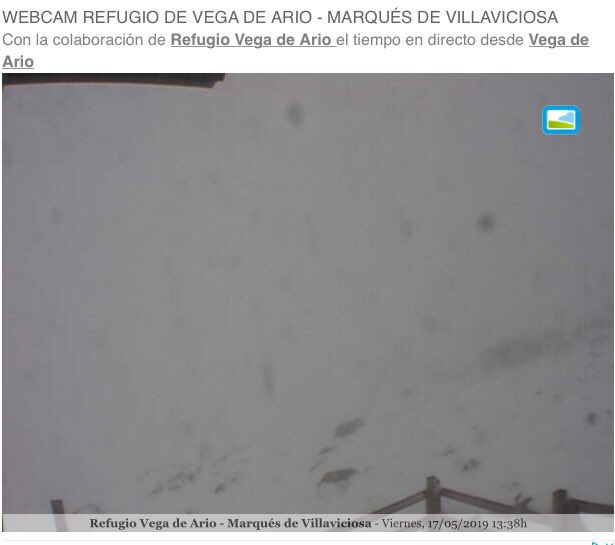 WEBCAM REFUGIO VEGA DE ARIO 17MAY19