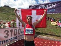 Maude Mathys, oro Europeo Mountain Running 2019. (C) WMRA